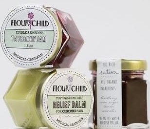Picture of FlourChild's tayberry jam and relief balm in jars