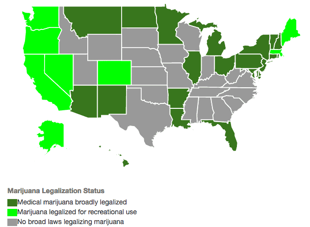 cannabis tinctures legal medical states